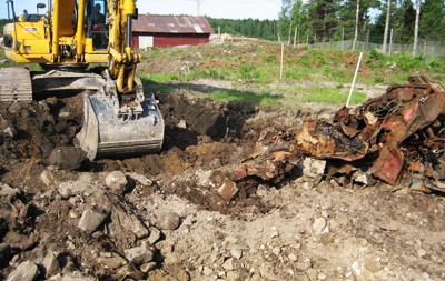 föroreningar grävskopa