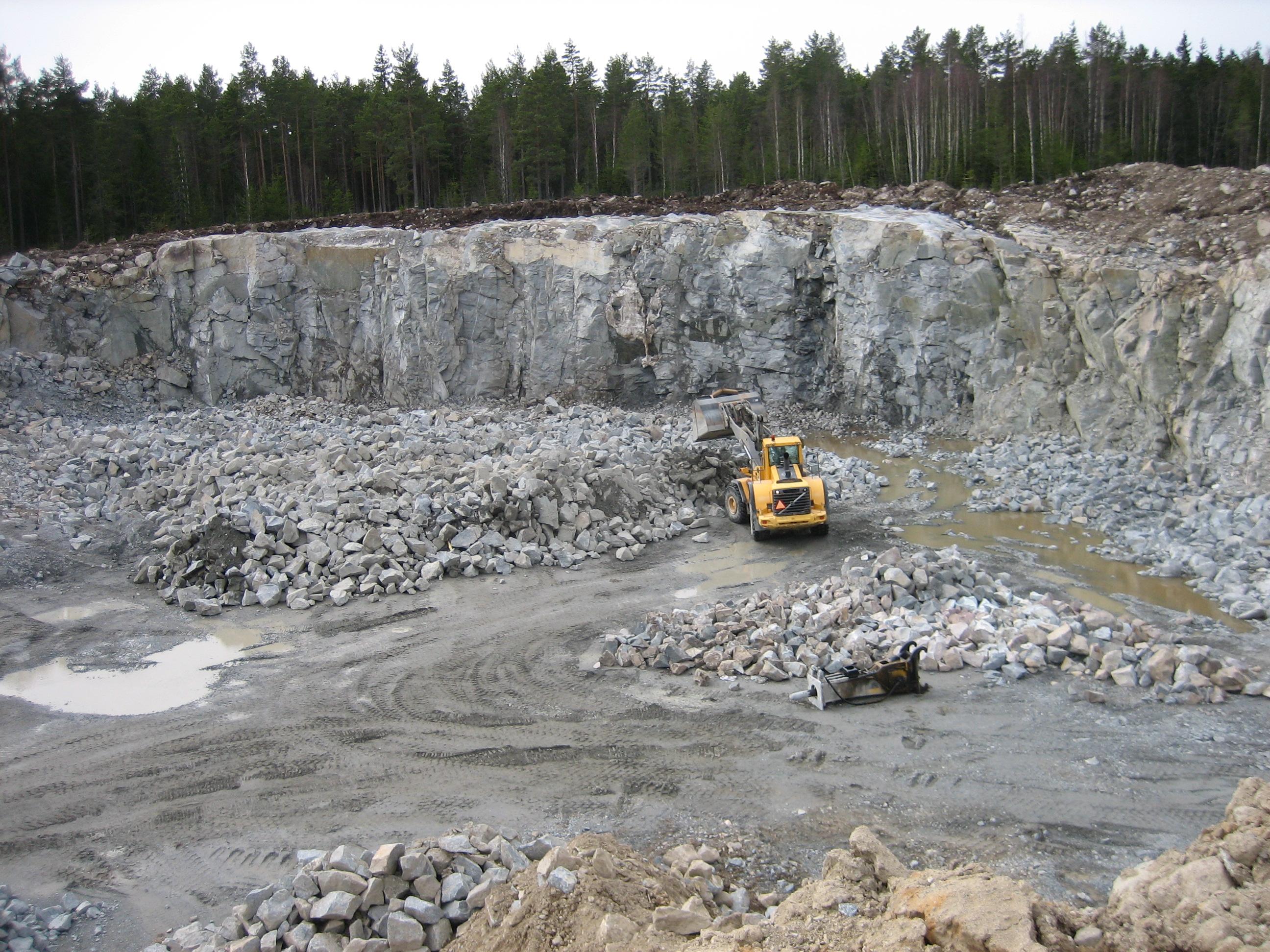 Översiktsbild vid Broberget Bergtäkt, där Geoveta upprättat miljökonsekvensbeskrivning